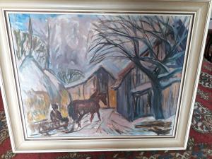 Obraz olej na plátnesln