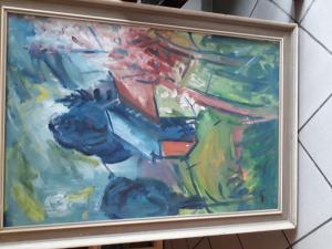 Obraz olej na plátnezah