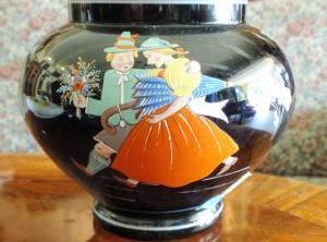 Váza ručne malovaná smaltom